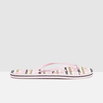 MAX Printed Striped Flip-Flops