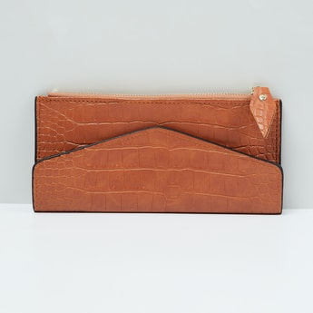 MAX Textured Zip-Closure Wallet with Coin Pouch