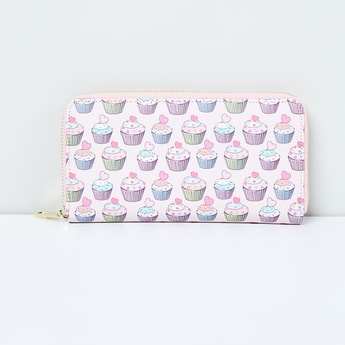 MAX Printed Zip-Closure Wallet