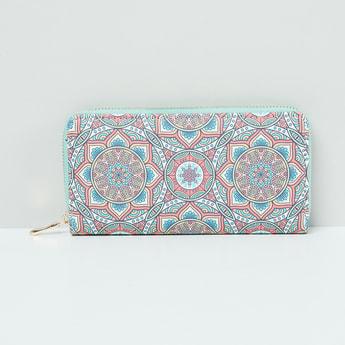 MAX Printed Zip-Around Wallet With Wrist Loop
