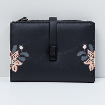 MAX Floral Print Zip-Closure Wallet with Strap
