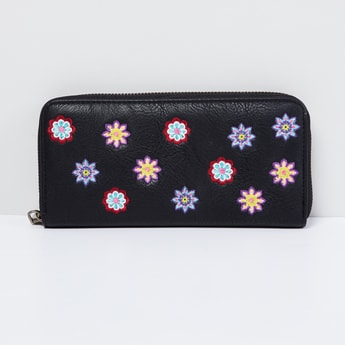 MAX Embroidered Zip-Around Wallet