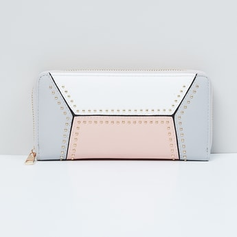 MAX Colourblocked Zip-Closure Wallet
