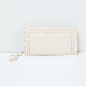 MAX Embellished Zip-Closure Wallet