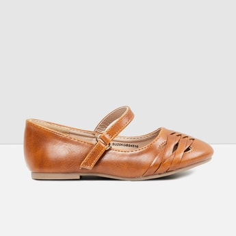 MAX Textured Mary Janes with Criss-Cross Straps