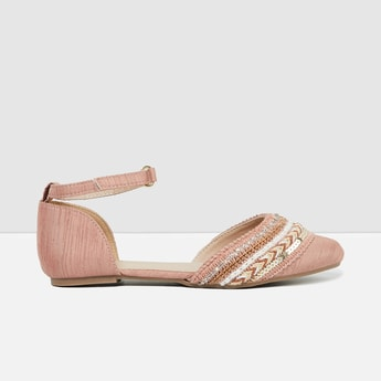 MAX Embellished d'Orsays with Ankle Straps