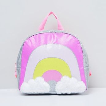 MAX Rainbow Print Backpack with Cloud Applique