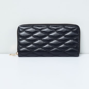 MAX Quilted Zip-Around Wallet