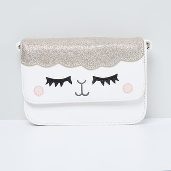 MAX Shimmery Sling Bag with Applique