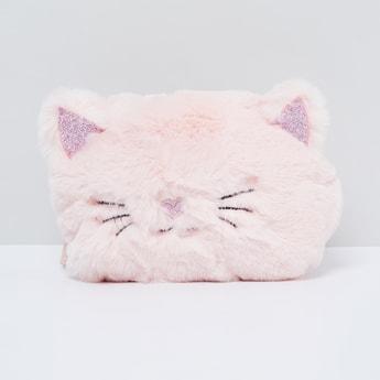 MAX Furry Kitty Zip-Closure Sling Bag
