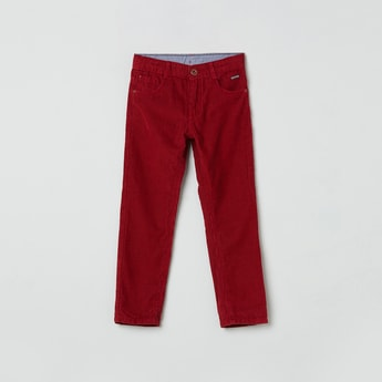 MAX Ribbed 5-Pocket Trousers
