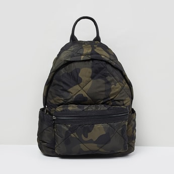 MAX Camouflage Print Quilted Backpack