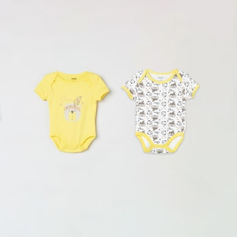 MAX Assorted Round Neck Bodysuit- Pack of 2