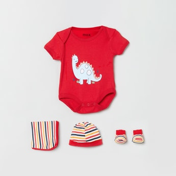 MAX Printed Romper Gift Set - Pack of 5