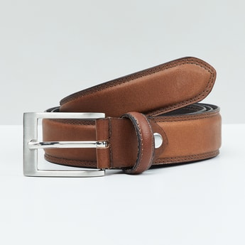 MAX Genuine Leather Solid Belt