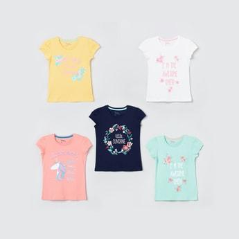 MAX Printed Cap Sleeves T-shirt - Pack of 5