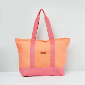 MAX Dual Tone Tote Bag with Pouch