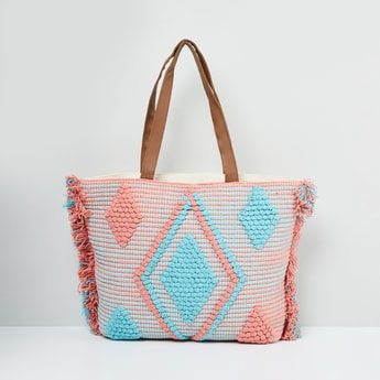 MAX Patterned Zip-Closure Tote Bag