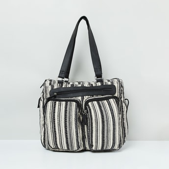 MAX Printed and Textured Messenger Bag