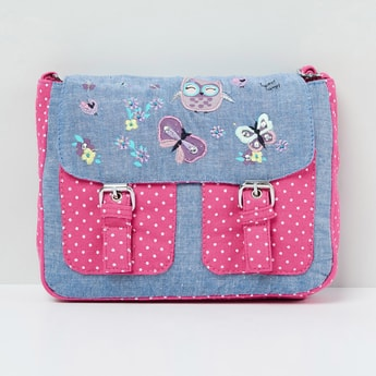 MAX Embroidered and Printed Satchel Bag