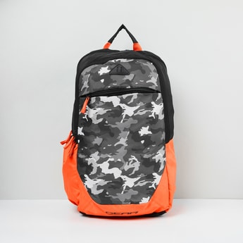 MAX Camouflage Print Zip-Closure Backpack