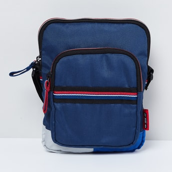 MAX Solid Zip-Closure Sling Bag