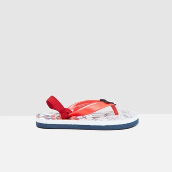 MAX Printed Flip-Flops with Slingback Strap