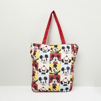 MAX Mickey Mouse Print Tote Bag