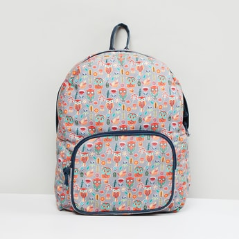 MAX Printed Backpack with Multiple Pockets