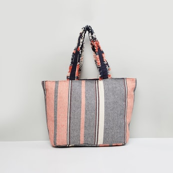 MAX Printed Tote Bag with Flat Handles