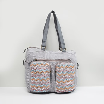 MAX Chevron Patterned Dufffle Bag