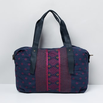 MAX Embroidered Zip-Closure Duffle Bag