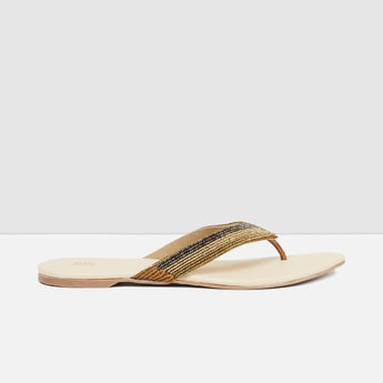 MAX Embellished V-strap Flats