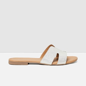 MAX Shimmery Detail Flat Sandals