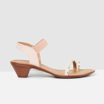 MAX Solid Toe-Strap Heels