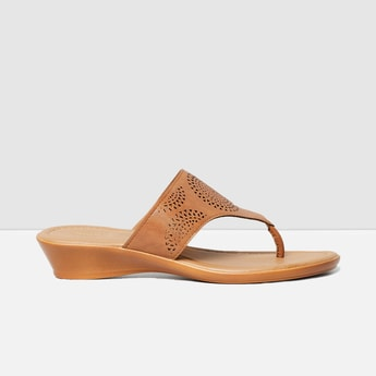 MAX Laser-Cut Detail Toe-Strap Wedges