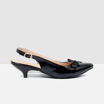 MAX Bow Detailed Kitten Heels