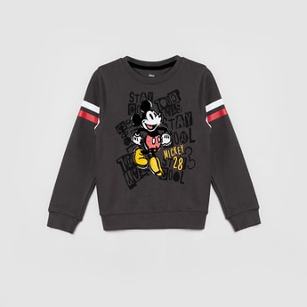 MAX Mickey Print Full Sleeves Sweatshirt