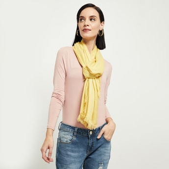 MAX Textued Tassel Detailed Scarf