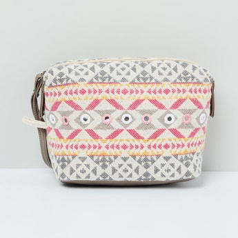 MAX Textured Pouch with Mirror Work