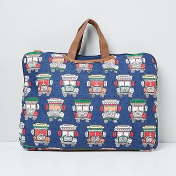 MAX Printed Zip-Closure Laptop Bag