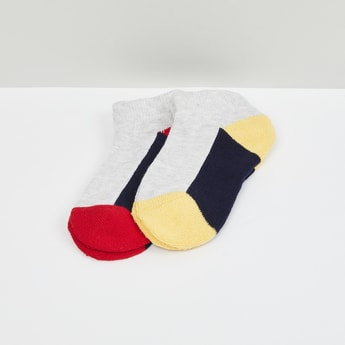 MAX Colorblocked Socks- Pack of 2 - 2-4Y
