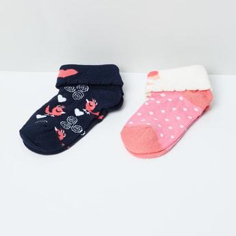 MAX Woven Design Socks- Pack of 2