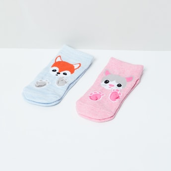 MAX Woven Design Socks- Set of 2 - 5-7Y