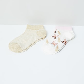MAX Patterned Ankle-Length Socks - Pack of 2 Pairs