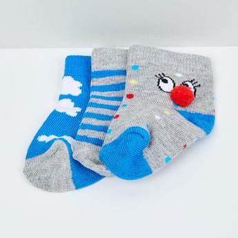 MAX Woven Design Socks - Pack of 3