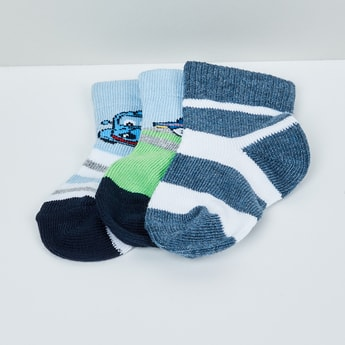 MAX Patterned Knit Socks - Pack of 3 - 0-6M