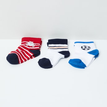 MAX Jacquard Ankle-Length Socks - Pack of 3 Pairs
