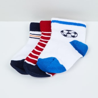 MAX Patterned Knit Socks - Pack of 3 - 1-2Y