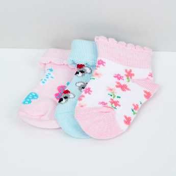 MAX Jacquard Pattern Socks- Pack of 3 - 0-6M